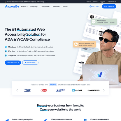 WCAG 2.1 & ADA Compliance | Web accessibility is accessiBe - accessiBe