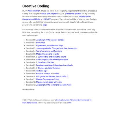 Creative Coding (Creative Coding)