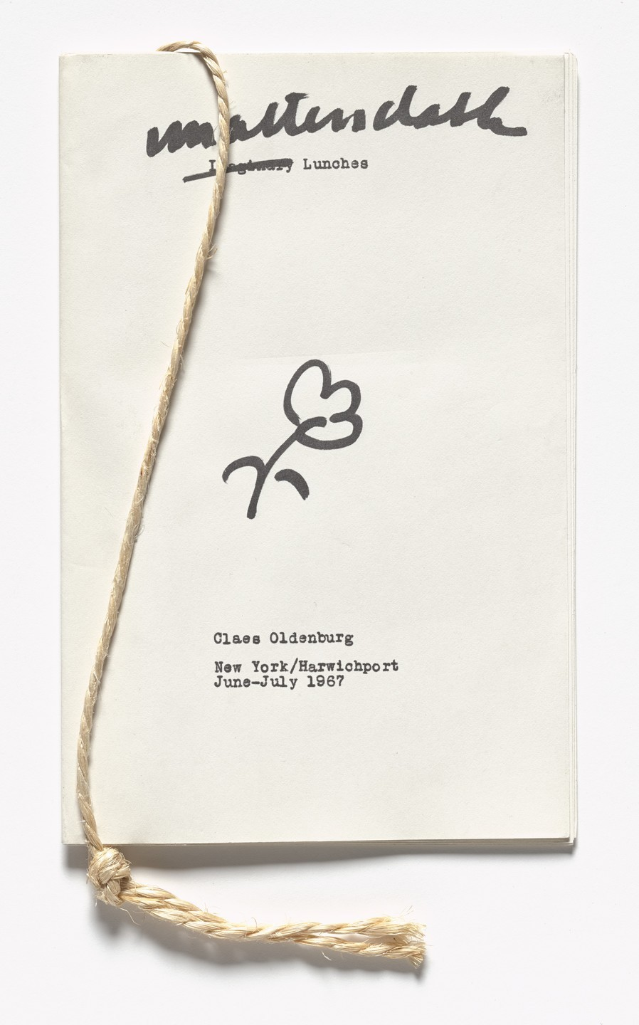 Claes Oldenburg - Unattendable Lunches from S.M.S. No. 6, 1968