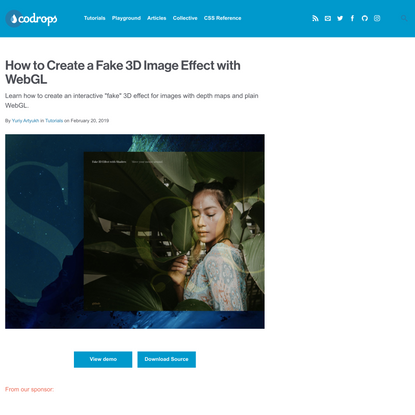 How to Create a Fake 3D Image Effect with WebGL | Codrops