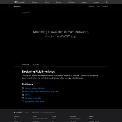 Designing Fluid Interfaces - WWDC 2018 - Videos - Apple Developer