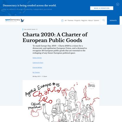 Charta 2020: A Charter of European Public Goods