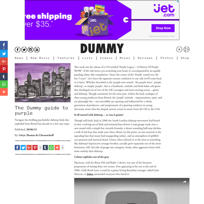 The Dummy guide to purple