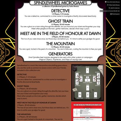 Spindlewheel Microgames by Sasha Reneau