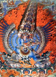 Tibetan thangka of the Chemchok Heruka