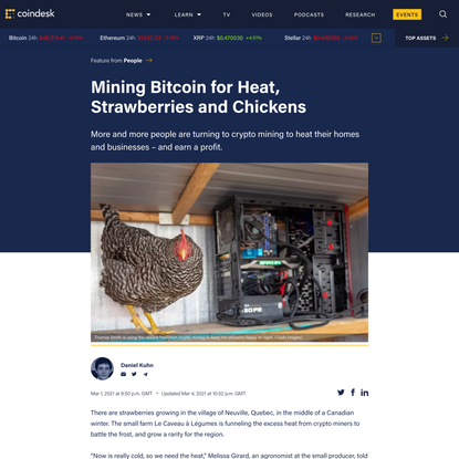 Mining Bitcoin for Heat, Strawberries and Chickens - CoinDesk