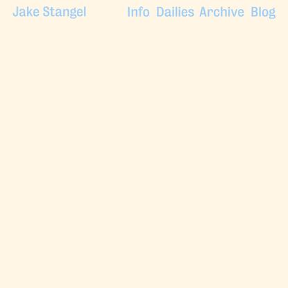 All Projects - Jake Stangel