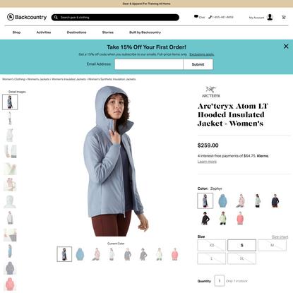 Atom LT Hooded Insulated Jacket - Women's