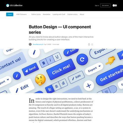 The anatomy of a button—UI component series