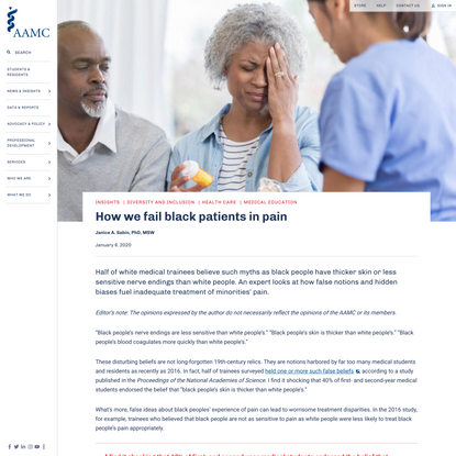 How we fail black patients in pain