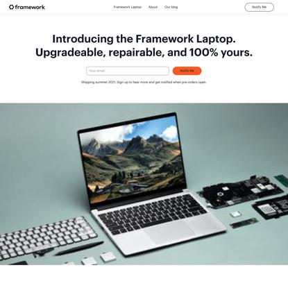 Introducing the Framework Laptop