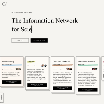 Column/ is a new social network for signal over noise.