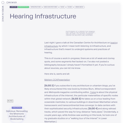 Hearing Infrastructure