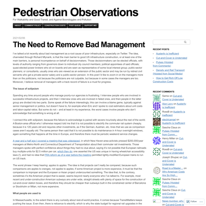 The Need to Remove Bad Management