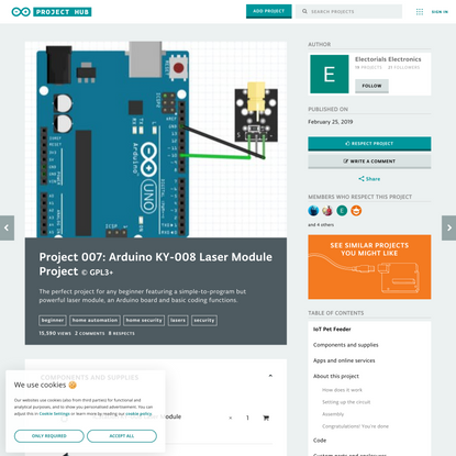 Project 007: Arduino KY-008 Laser Module Project