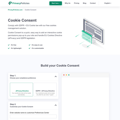 Cookie Consent - Privacy Policies