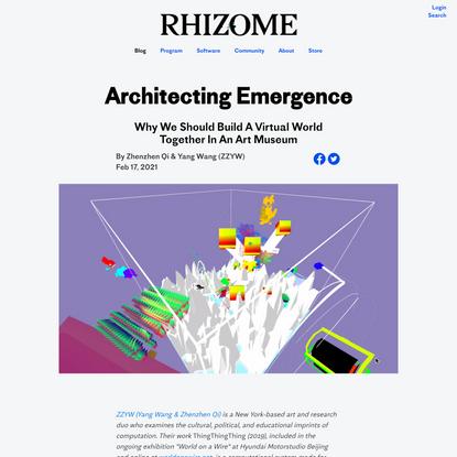 Architecting Emergence