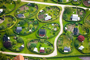 Nærum gardens. Copenhagen, Denmark