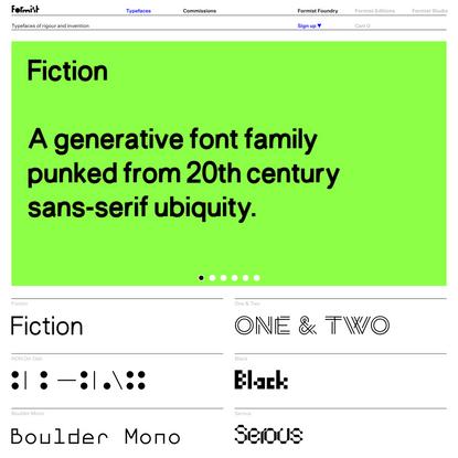 Formist Foundry