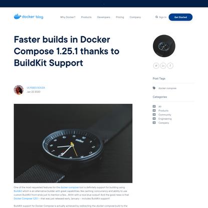 Faster builds in Docker Compose 1.25.1 thanks to BuildKit Support - Docker Blog