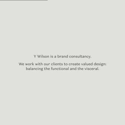 Y Wilson | Brand Identity, Websites, Campaign & Packaging