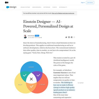 Einstein Designer—AI-Powered, Personalized Design at Scale