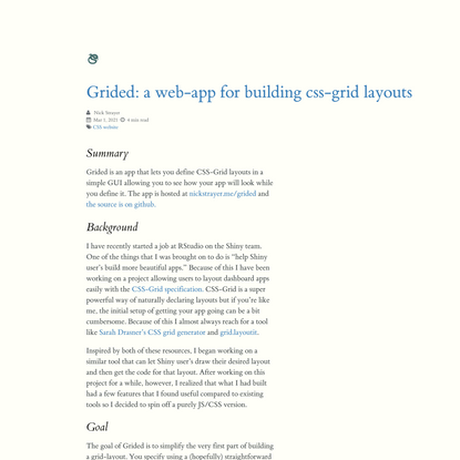 Live Free or Dichotomize - Grided: a web-app for building css-grid layouts