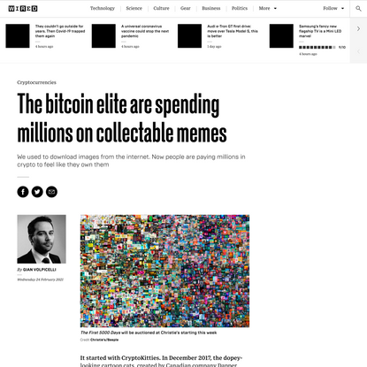 The bitcoin elite are spending millions on collectable memes