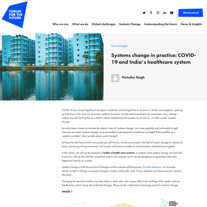 Systems change in practice: COVID-19 and India's healthcare system