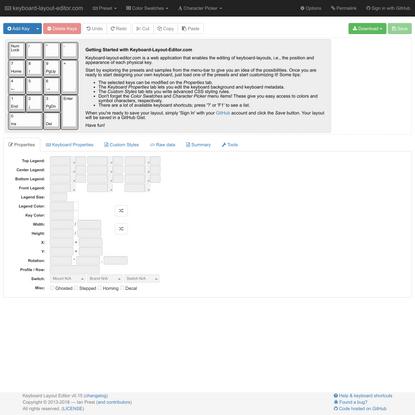 Keyboard Layout Editor