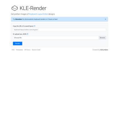 KLE-render