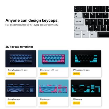 Keycap Designer Resources