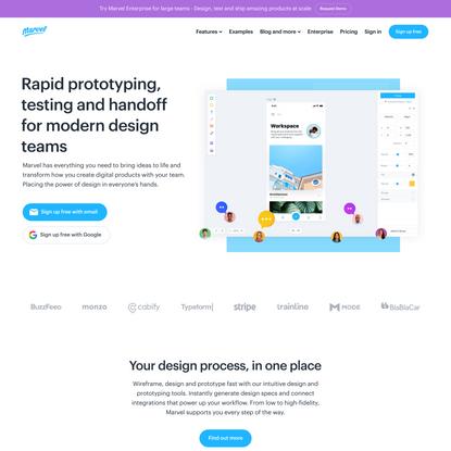Marvel - The design platform for digital products. Get started for free.