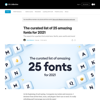 The curated list of 25 amazing fonts for 2021