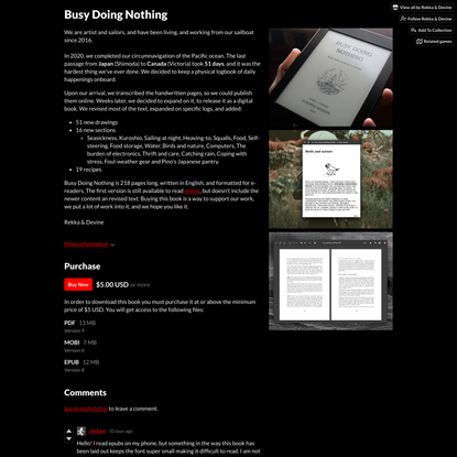 Busy Doing Nothing by Rekka & Devine