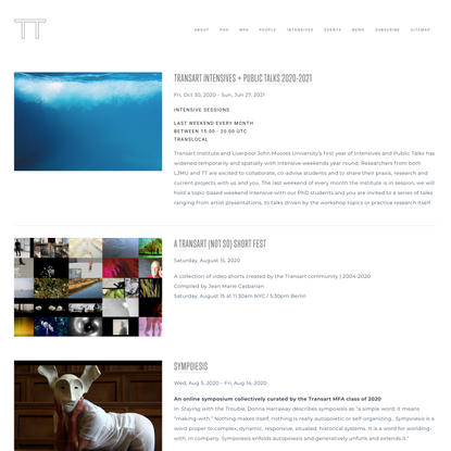 Events — Transart Institute for Creative Research