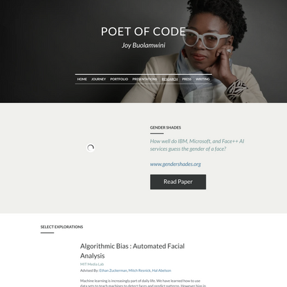 Research - Poet of Code - Joy Adowaa Buolamwini