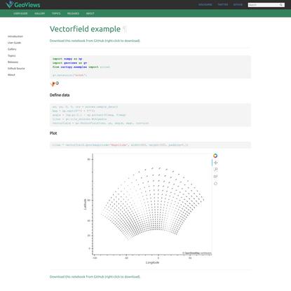 Vectorfield example — GeoViews 1.8.1 documentation