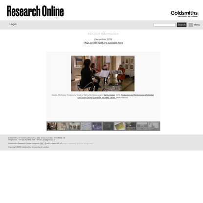 Home - Goldsmiths Research Online
