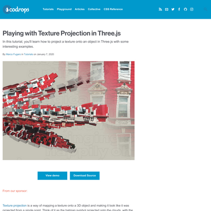 Playing with Texture Projection in Three.js | Codrops