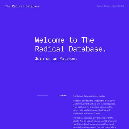 The Radical Database