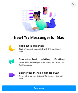 Messenger for Mac Upsell
