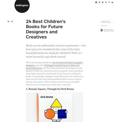24 Best Children's Books for Future Designers and Creatives | Shillington Design Blog