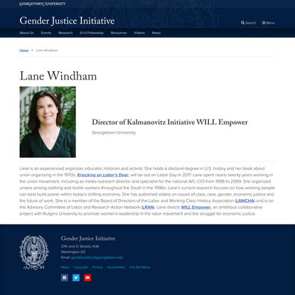 Lane Windham - Gender Justice Initiative