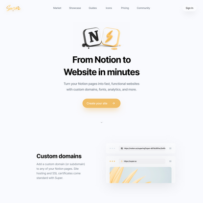 Super — From Notion to Website in minutes