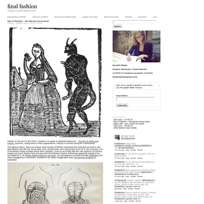 "final fashion "" fear of fashion - the eternal moral panic"