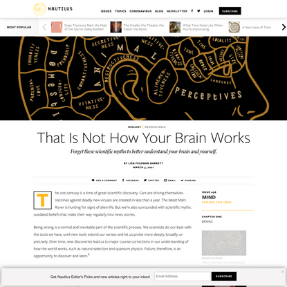That Is Not How Your Brain Works - Issue 98: Mind - Nautilus