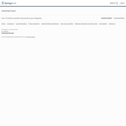 Page Unavailable | SpringerLink