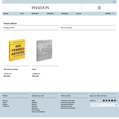 French editions | Store | Phaidon