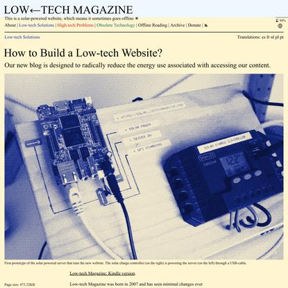 How to Build a Low-techWebsite?